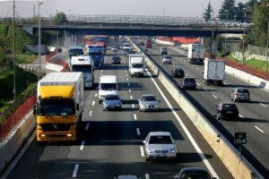 CAPRIATE/TREZZO -TRAFFICO IN AUTOSTRADA DIREZIONE MILANO