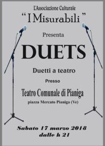 I Misurabili nello spettacolo Duets a Pianiga