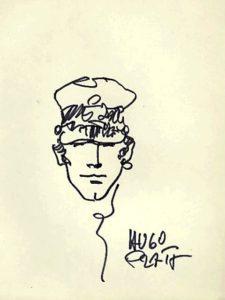 Disegno originale di Hugo Pratt