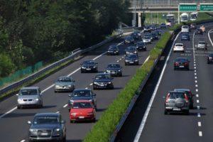 Traffico intenso sulla A4 Venezia-Trieste, oggi, sabato 9 agosto 2014. Foto Ufficio Stampa Autovie Venete