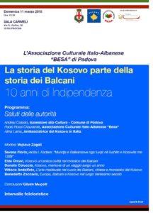 convegno 10 anni indipendenza Kosovo a Padova